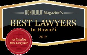 Honolulu Magazine Best Lawyers 2019